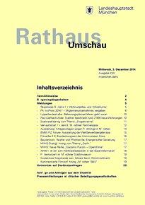 Rathaus Umschau 230 / 2014