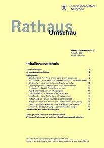 Rathaus Umschau 232 / 2014