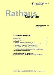 Rathaus Umschau 233 / 2014