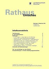 Rathaus Umschau 234 / 2014