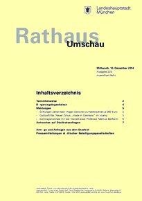 Rathaus Umschau 235 / 2014