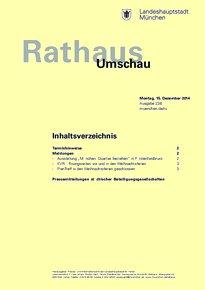 Rathaus Umschau 238 / 2014