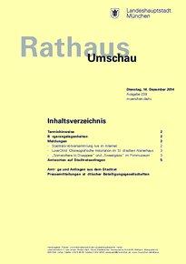 Rathaus Umschau 239 / 2014