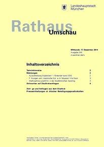 Rathaus Umschau 240 / 2014