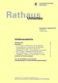 Rathaus Umschau 241 / 2014