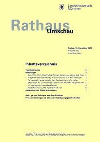 Rathaus Umschau 242 / 2014