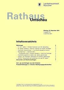 Rathaus Umschau 243 / 2014