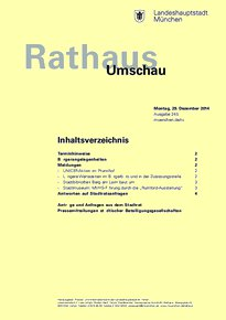 Rathaus Umschau 245 / 2014