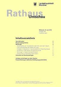 Rathaus Umschau 106 / 2015