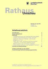 Rathaus Umschau 110 / 2015