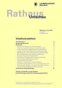 Rathaus Umschau 111 / 2015