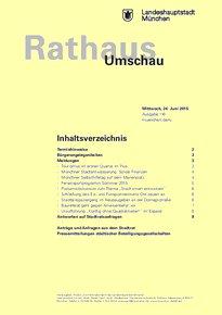 Rathaus Umschau 116 / 2015