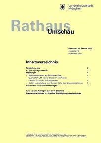 Rathaus Umschau 12 / 2015