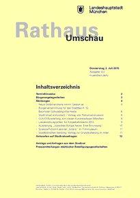 Rathaus Umschau 122 / 2015