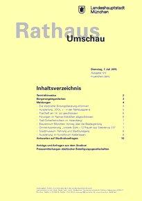 Rathaus Umschau 125 / 2015