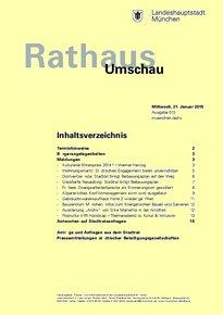 Rathaus Umschau 13 / 2015