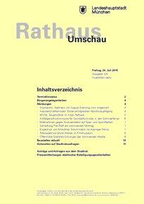 Rathaus Umschau 138 / 2015