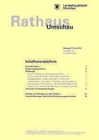 Rathaus Umschau 139 / 2015