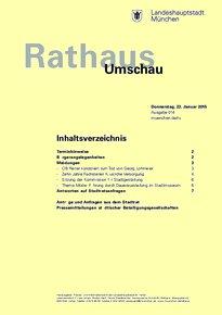 Rathaus Umschau 14 / 2015
