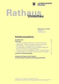 Rathaus Umschau 141 / 2015