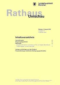 Rathaus Umschau 144 / 2015
