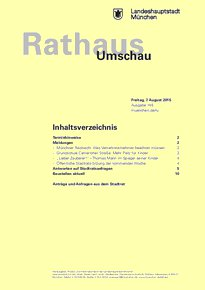 Rathaus Umschau 148 / 2015