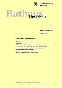 Rathaus Umschau 149 / 2015