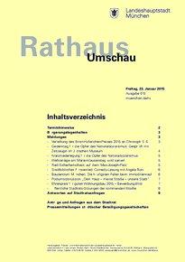 Rathaus Umschau 15 / 2015