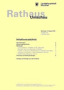 Rathaus Umschau 150 / 2015