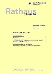 Rathaus Umschau 151 / 2015