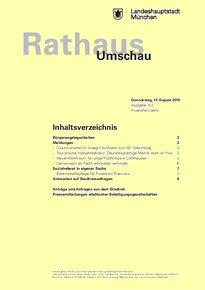 Rathaus Umschau 152 / 2015