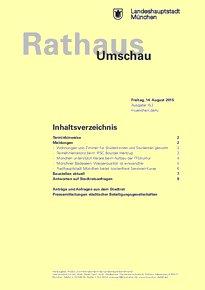 Rathaus Umschau 153 / 2015