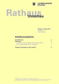 Rathaus Umschau 154 / 2015