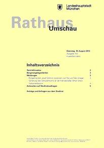 Rathaus Umschau 155 / 2015