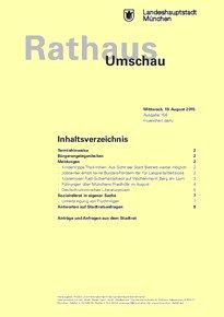 Rathaus Umschau 156 / 2015