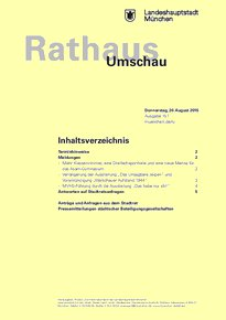 Rathaus Umschau 157 / 2015