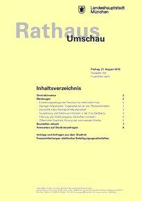 Rathaus Umschau 158 / 2015