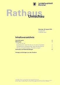 Rathaus Umschau 160 / 2015