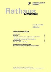Rathaus Umschau 163 / 2015
