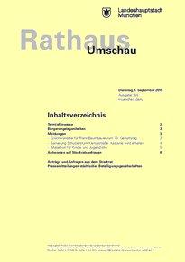 Rathaus Umschau 165 / 2015