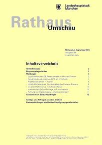 Rathaus Umschau 166 / 2015