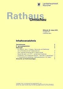 Rathaus Umschau 18 / 2015