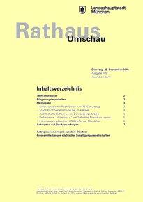 Rathaus Umschau 185 / 2015