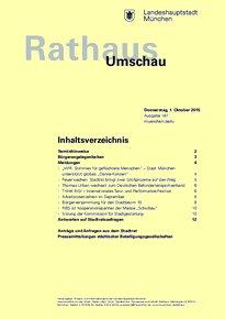 Rathaus Umschau 187 / 2015