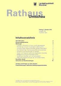 Rathaus Umschau 188 / 2015
