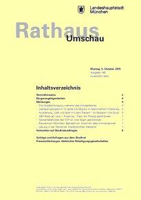 Rathaus Umschau 189 / 2015