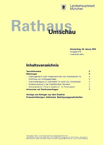 Rathaus Umschau 19 / 2015