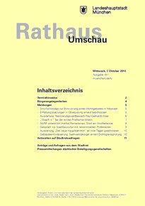 Rathaus Umschau 191 / 2015