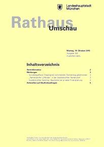Rathaus Umschau 199 / 2015