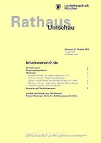 Rathaus Umschau 201 / 2015